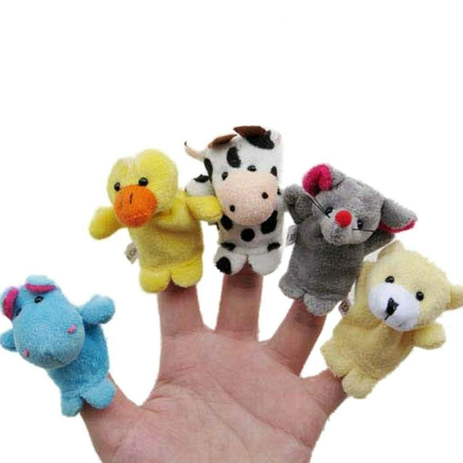 10PCS/set Cartoon Finger Puppets Baby New