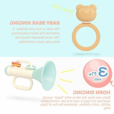 Baby Newborn Rattles Teether Rattle Set BPA