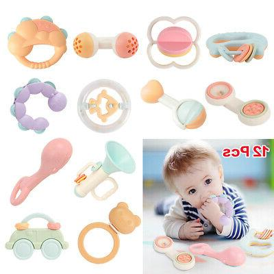 Baby Rattles Teethers Set Electronic Rattle Shaker Infant to