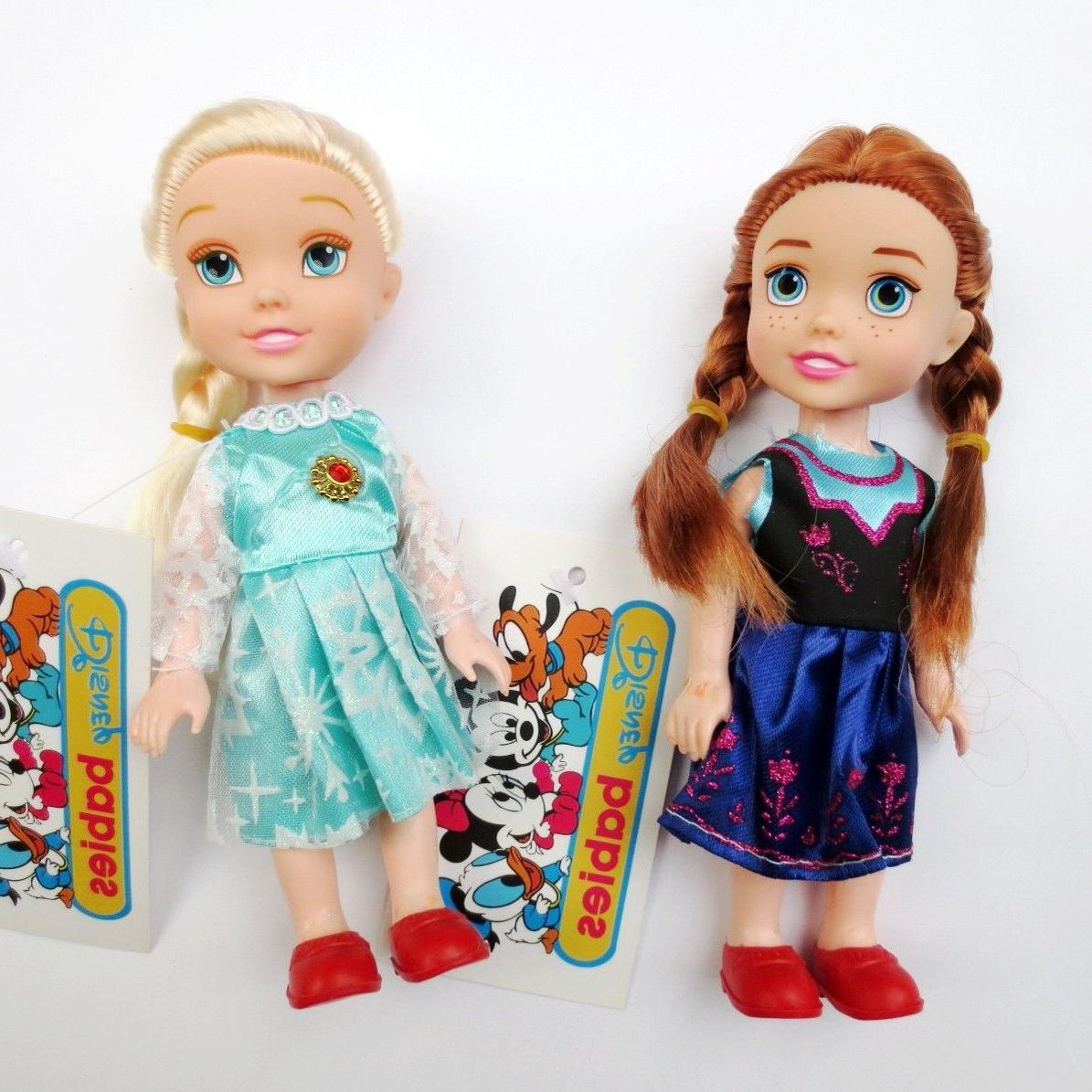 16 cm Toddlers Princess Anna Elsa Dolls