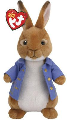 """TY Beanie Baby 8/"""" PETER RABBIT Plush Animal Stuffed Easter Toy MWMTs Heart Tags"""