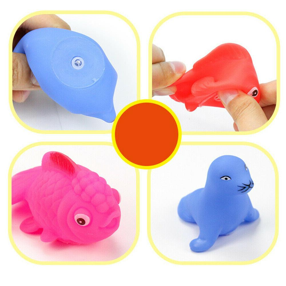 20pcs Baby Bath toddlers Rubber Animals Toys