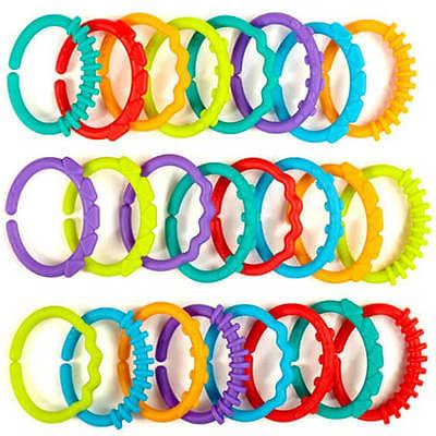 24pc safe plastic teether baby stroller gym