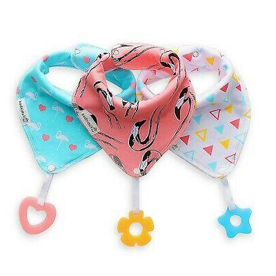 3 pack baby bandana drool bibs teething