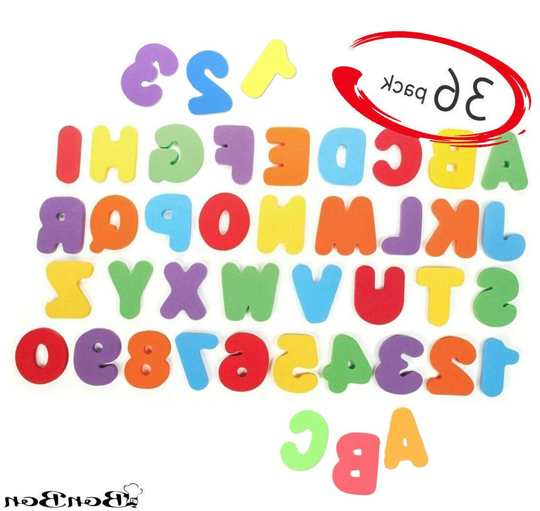 36pcs alphabet toddler bath toys floating letters