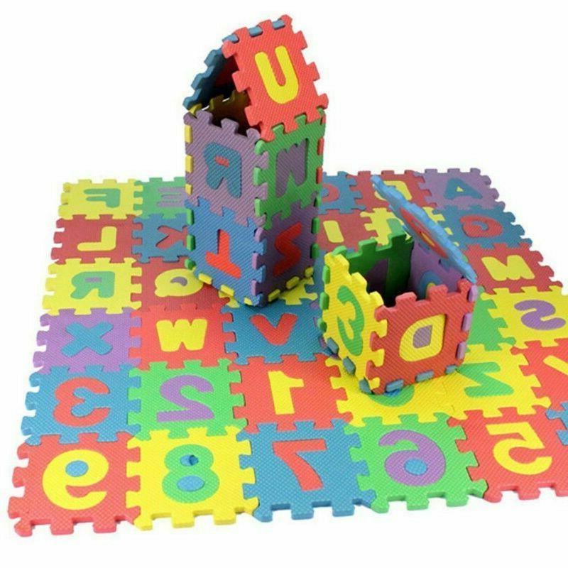 36pcs set alphabet and numerals baby kids