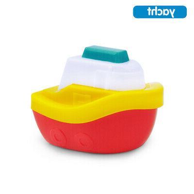 4PACK BABY BOATS PLASTIC BATH PLAYSET BATHING