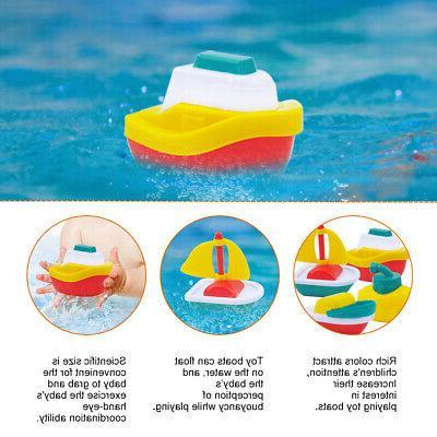 BOATS PLASTIC BATH PLAYSET POOL TOYS FLEET