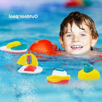 4PACK FLOATING BOATS BATH PLAYSET FLEET