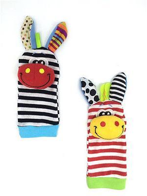 4pcs Infant Wrist Rattles Soft Toy