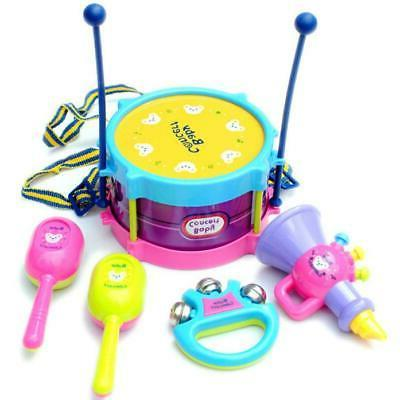 5pcs Kids Roll Drum Musical Band Toy