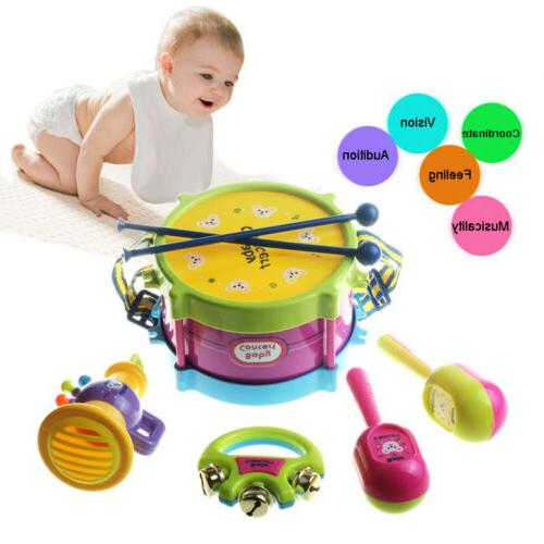 5pcs set baby boy girl drum musical