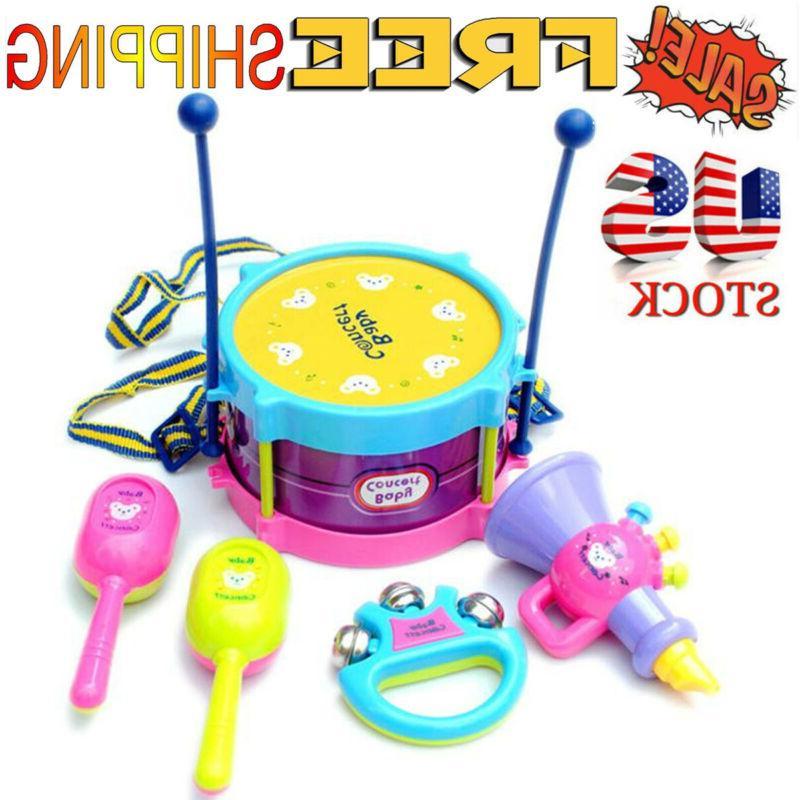 5pcs set roll drum musical education instruments