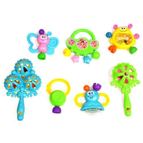 7Pcs Newborn Shaking Toys Hand Toys HI