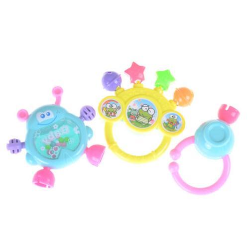 7Pcs Newborn Shaking Bell Rattles Teether Toys HI
