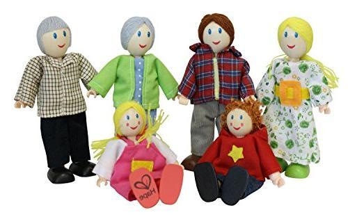 Award Winning Hape Caucasian Doll Family Set for Kid's Dollh