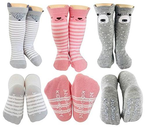 Baby Socks for Toddler Girls with Non Skid Best Gift for 8-24 Month Girl Anti