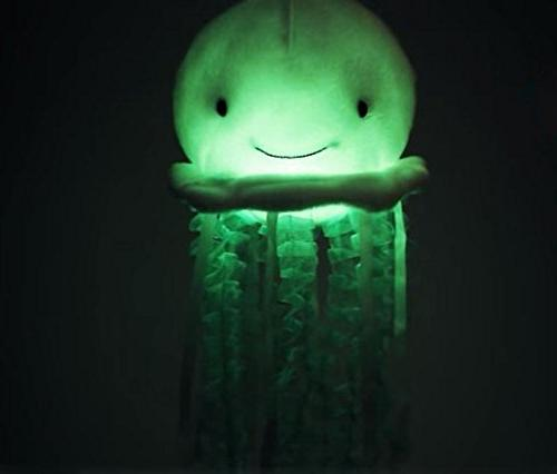 Cuddle Barn Bubbles The Jellyfish Light-Up Animal, has Soft and Soothing Ocean Wonder Melody Help Baby Sleep