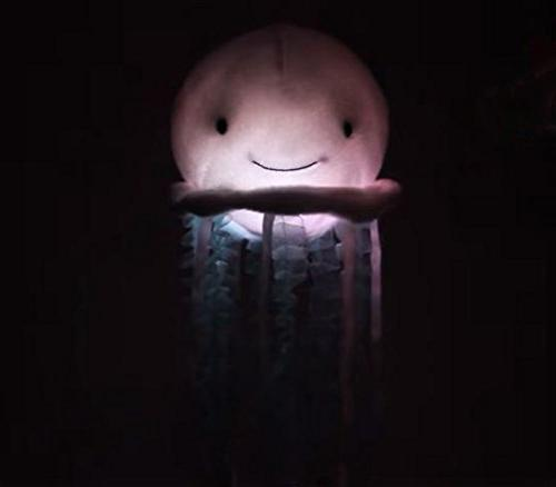 "Cuddle Bubbles Jellyfish Light-Up Musical Animal, 12"" Plush Toy Attaches Crib Mobile has Lights and Ocean Melody Help"