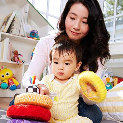 LAMAZE - Rings Toy, Develop Motor and Hand-Eye Coordination Multiple Playful Sounds, 6 Older
