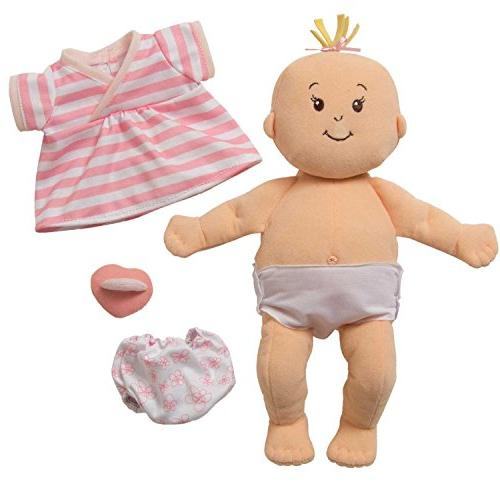 Manhattan Toy Peach First Doll for Ages 1 Year Up, 15""