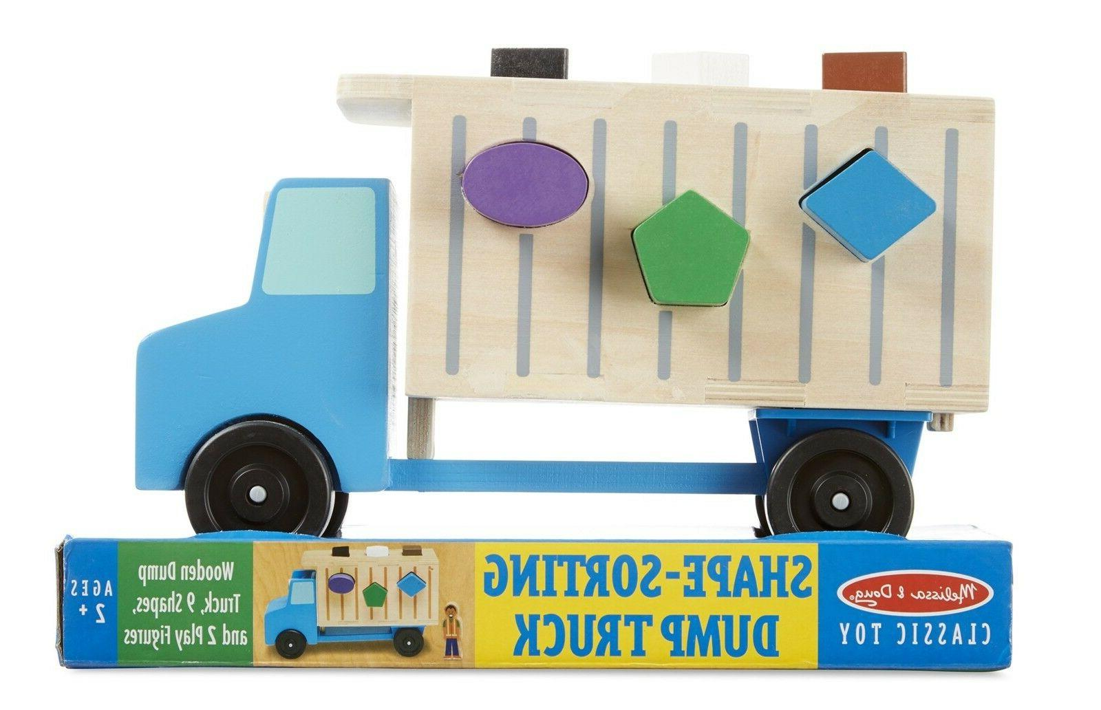 Melissa & Doug Shape-Sorting Wooden Dump Truck Toy, Quality