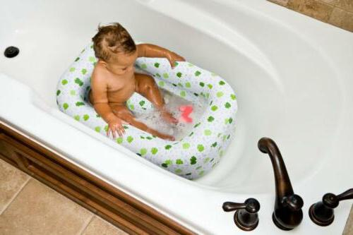White//Green 6-24 Months Mommy/'s Helper Inflatable Bath Tub Froggie Collection