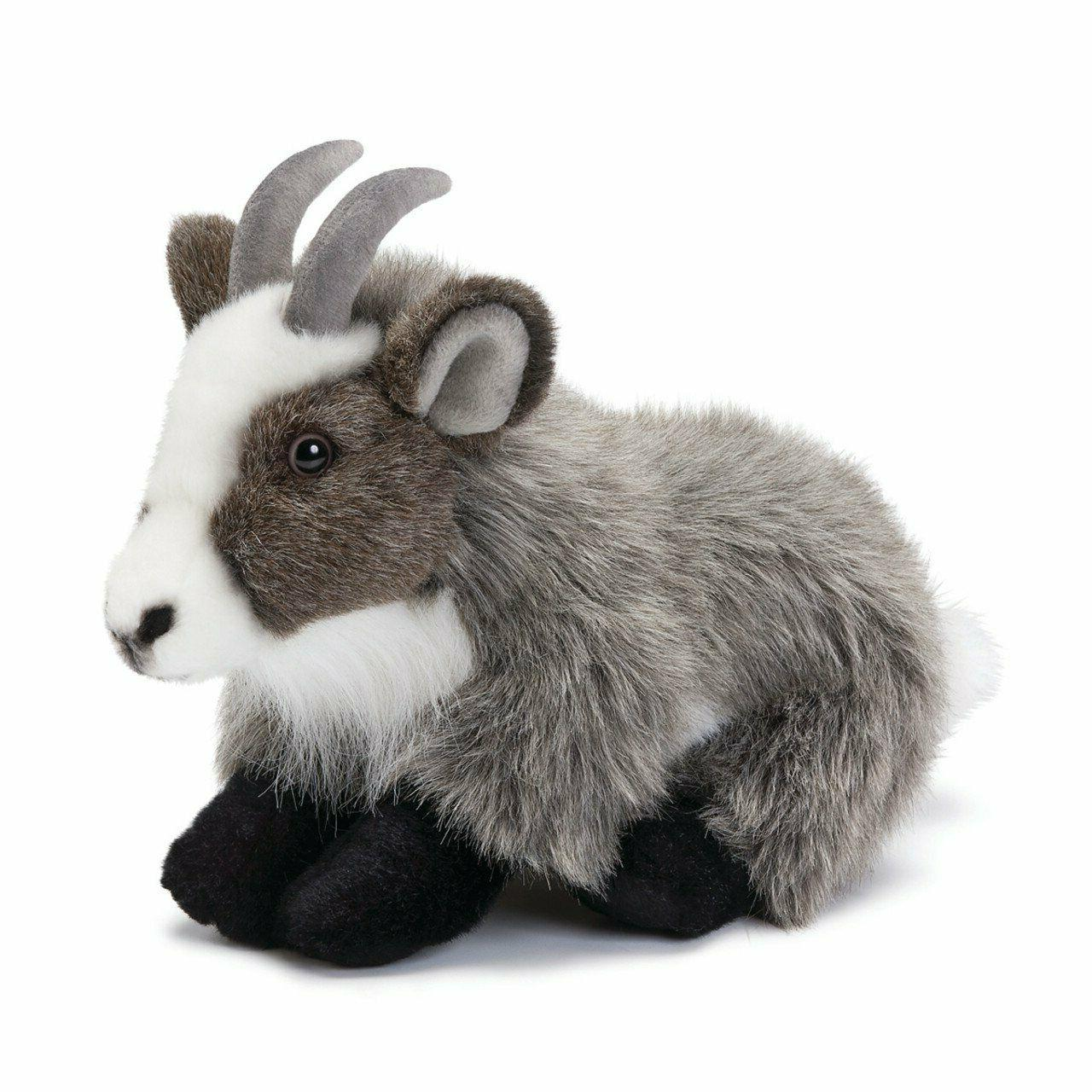 Nat and Jules Sitting Large Goat Wispy Charcoal Children's P