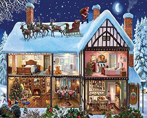 White Mountain Puzzles Christmas House - 1000 Piece Jigsaw P