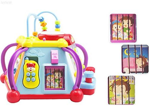 WolVol Baby Activity Cube Play Lights, and Skills Learning and