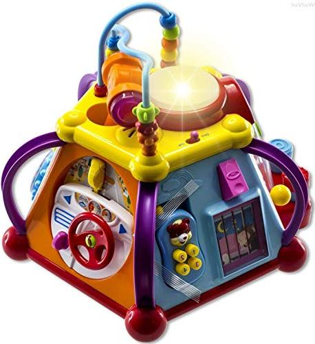 Baby Toy Activity Cube Center with Lights, of Functions and Skills Learning and