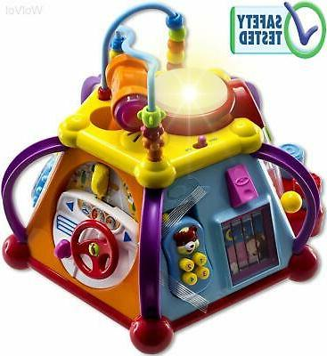 Educational Baby Toddler Toy Musical Activity Cube Play Centre with Lights Fun