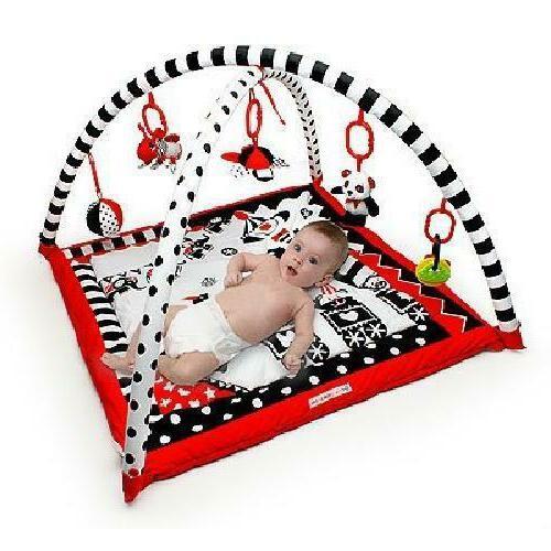 Activity 3D Playmat Black Red Play Mat Machine Washable