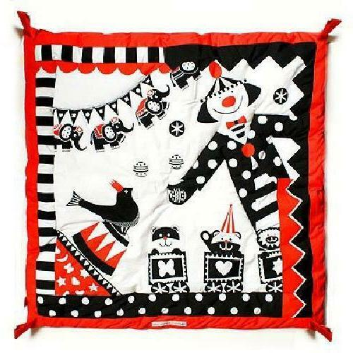 Activity Playmat Gym Black White Red Play