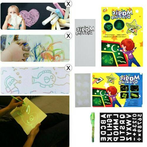 A5 Draw Light Fun Drawing Board Kids Educational Toy
