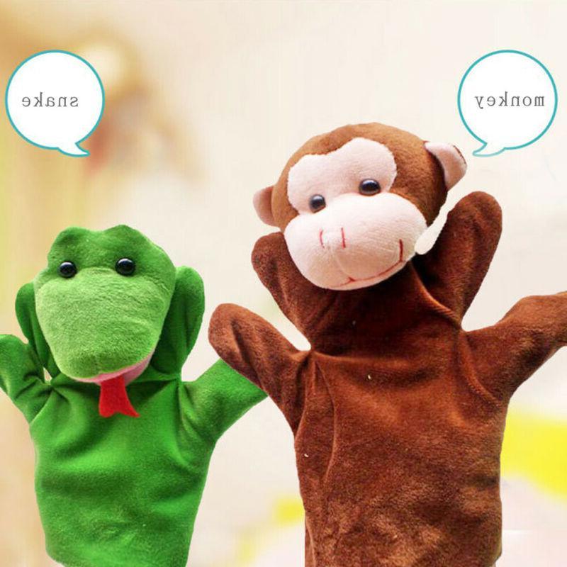 Animal Wildlife Hand Puppets Kids Toys Soft