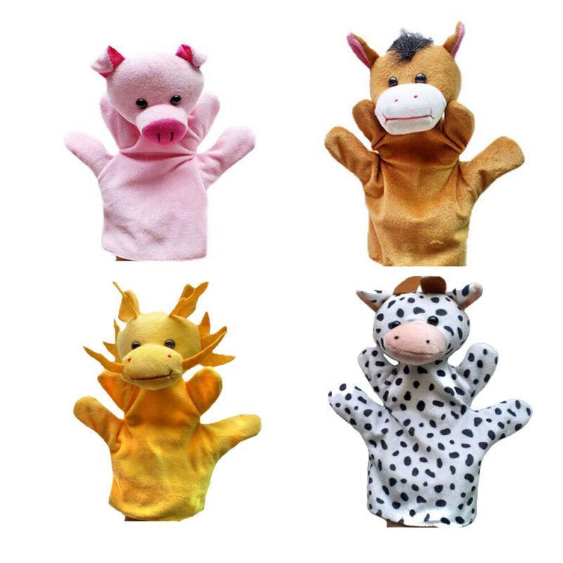 Animal Wildlife Puppets Plush Kids Children Toys 12-Styles