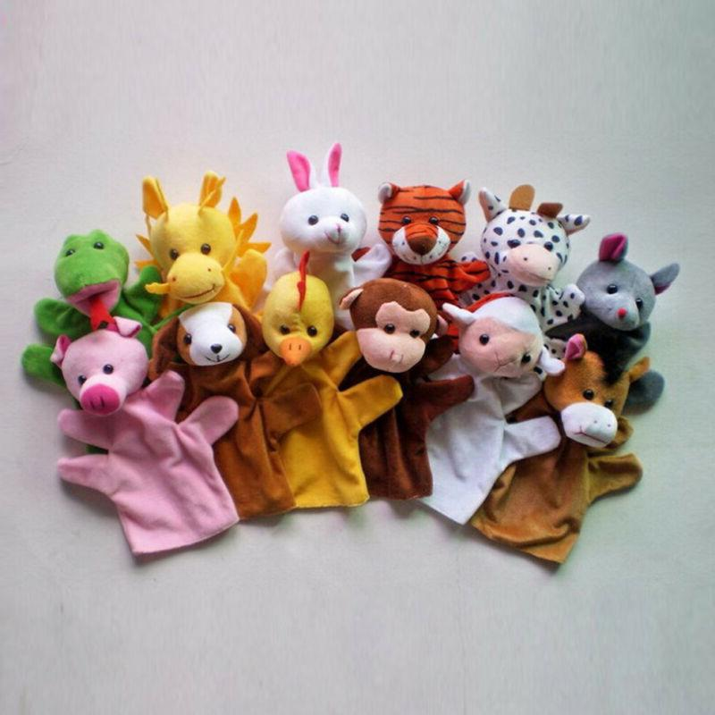 Animal Wildlife Glove Puppets Plush Kids Toys 12-Styles