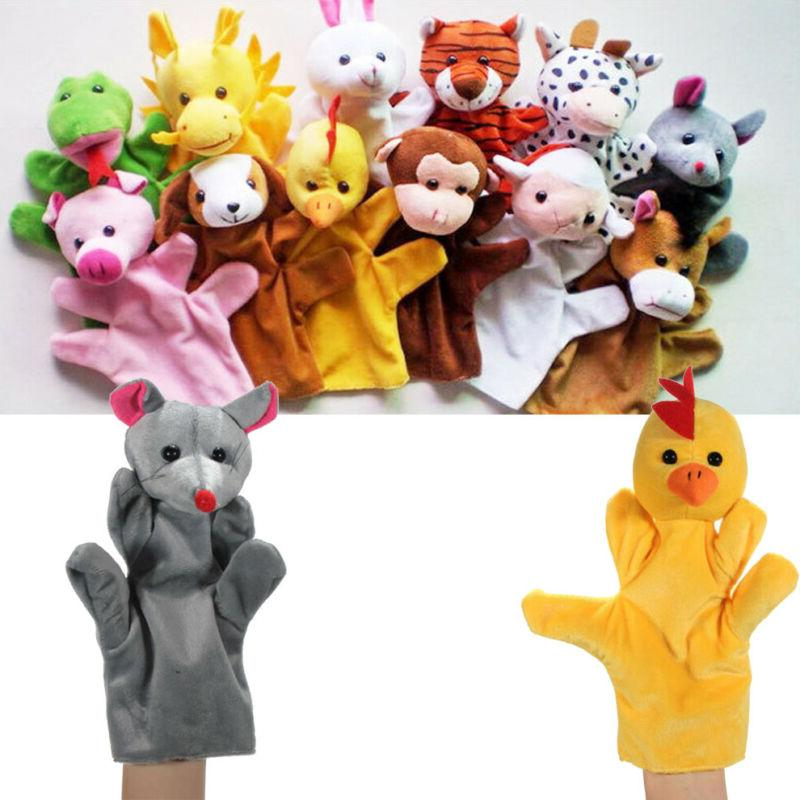 animal wildlife hand glove puppets plush kids