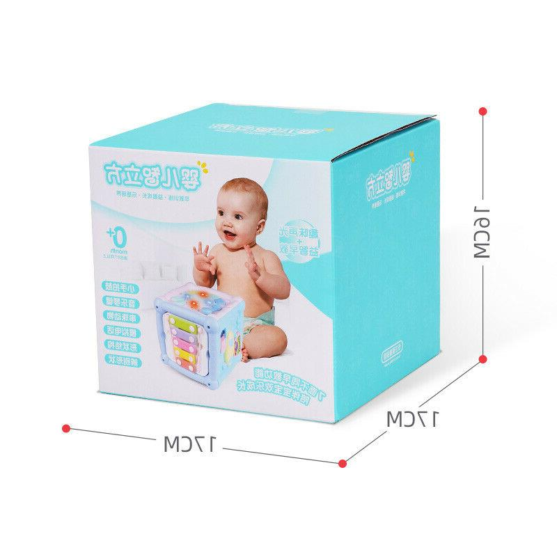 Baby Activity Cube Blocks Shape sorter with Music Light