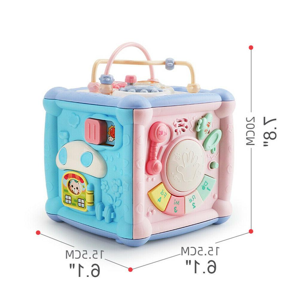 Baby Activity Cube Blocks Shape sorter with and Light
