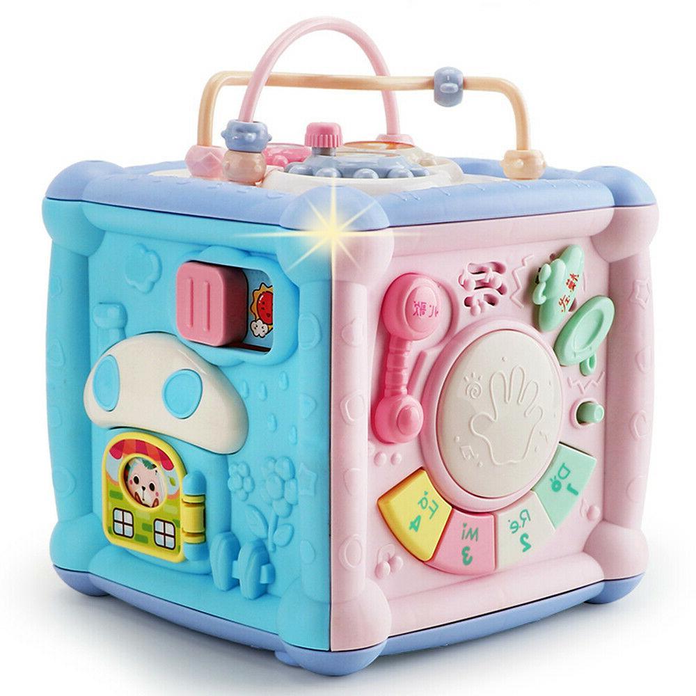 baby activity center toys cube blocks shape