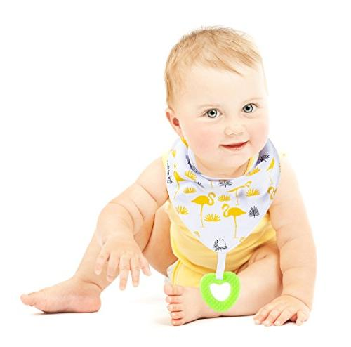 Baby Bandana and toys with 100% Super Absorbent and 6-Pack Unisex