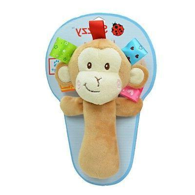 Baby Bed Stroller Hanging Toy Cartoon Animal Plush Gift