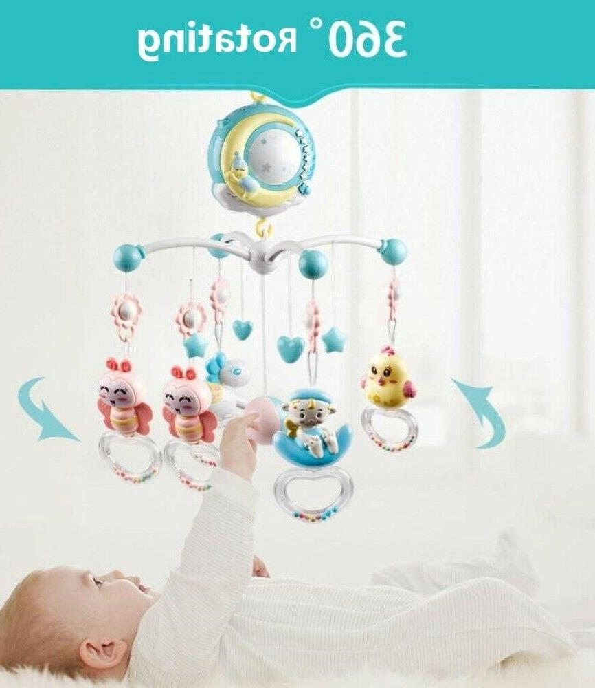 Baby Crib Bed With Music Light Toy
