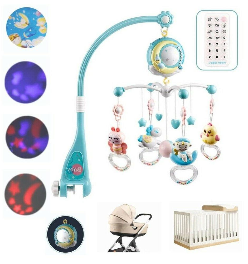 baby crib mobile musical bed bell
