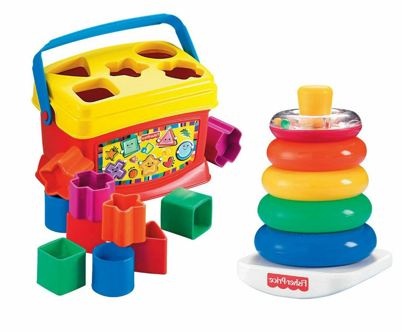 baby developmental toys set educational blocks bundle