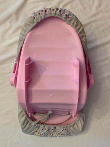 Perfectly Cute Baby Car Carrier Seat Pretend Play Pink Gray