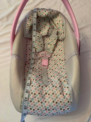 Perfectly Cute Baby Car Carrier Seat Play Toy, Pink Gray