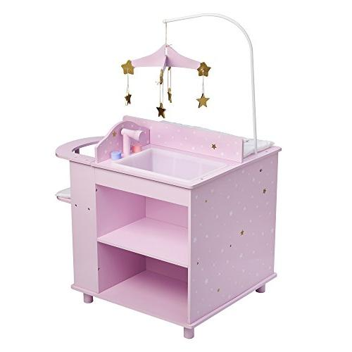 "Olivia's Little World - Princess 16"" Baby Station Storage Purple"